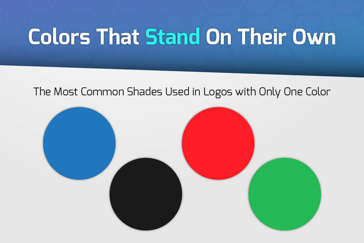 The Most Common Colors Used in Logos with Only One Color