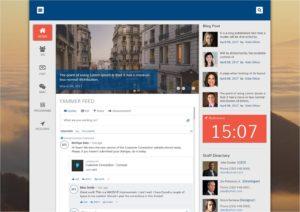 non-profit intranet design
