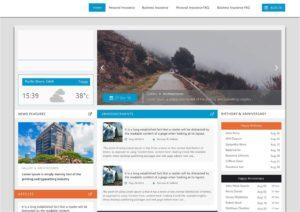 insurance intranet design