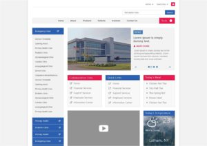 manufacturing intranet website