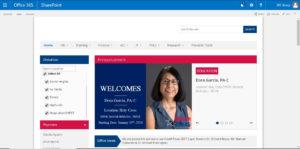 medical industry intranet design